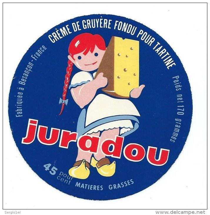 Cute vintage cheese label - Juradou