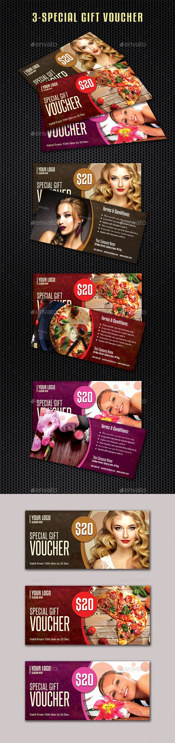 #Gift #Vouchers Template - Loyalty Cards #Cards & #Invites