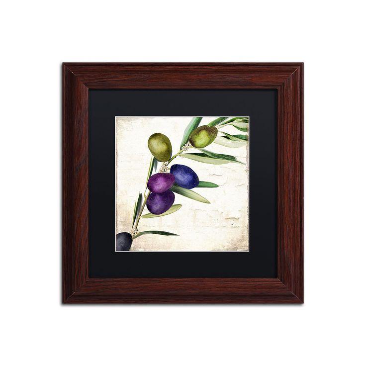 Trademark Fine Art Olive Branch III Traditional Framed Wall Art, Black