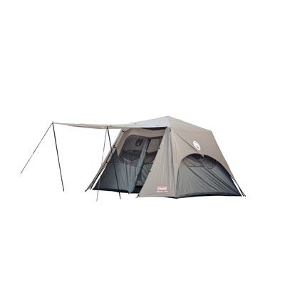 Coleman Instant up (2mins) 6 person tent. Fast setup but these type of tents cane be quite heavy. Easier to set up with 2 people.
