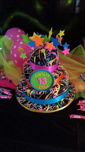 Best 25 Neon Birthday Cakes Ideas On Pinterest Neon