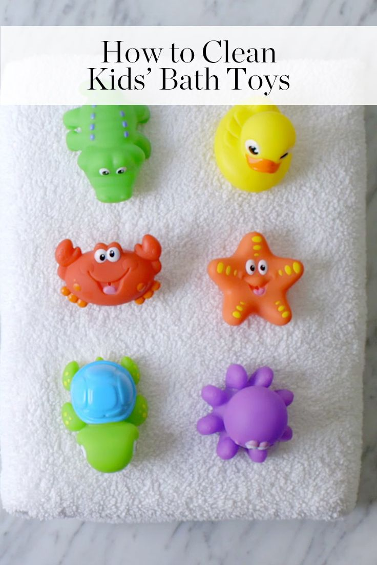 Moldy Bath Toys? Here's How to Clean 'Em via @PureWow