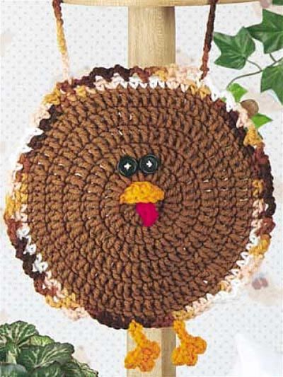 Gobble Coaster Free Crochet Pattern : Crochet for the Home - Holiday Crochet Patterns - Gobble ...