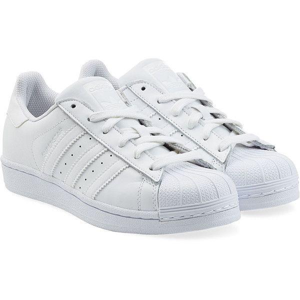 Adidas Originals Leather Superstar Sneakers found on Polyvore featuring  shoes, sneakers, adidas, trainers