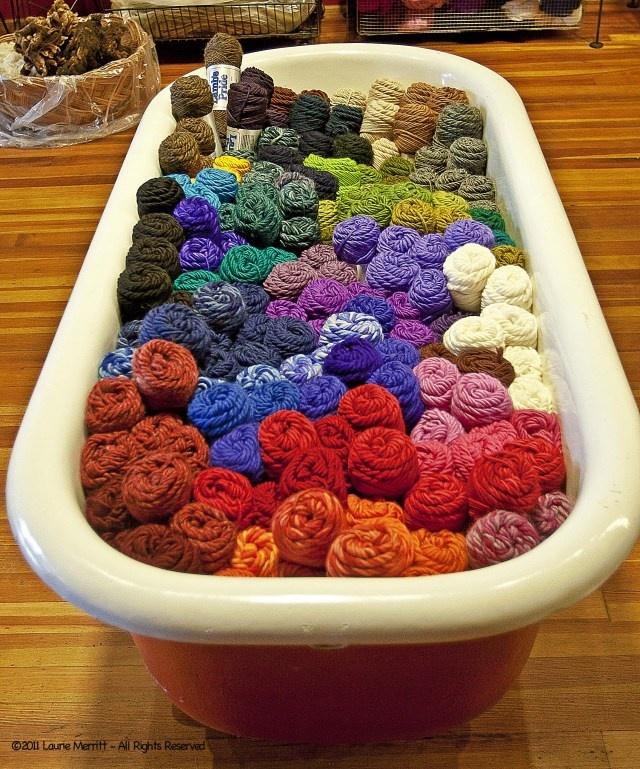 Tub of yarn. Love it!