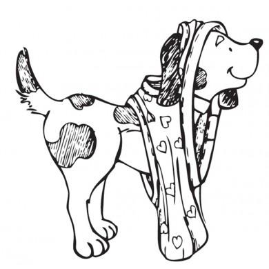 Dog in Underwear by Rubbernecker Stamps