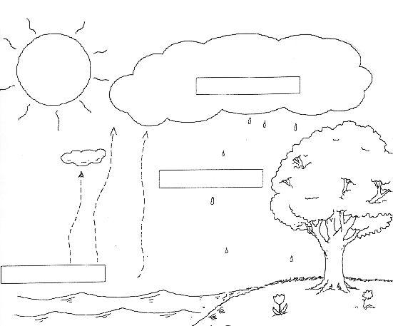water cycle diagram worksheet school pinterest water. Black Bedroom Furniture Sets. Home Design Ideas