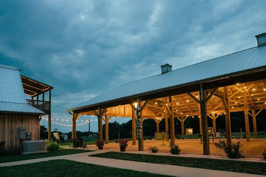 Our new 40 X 60 pavilion, like our barn, has many chandeliers and bistro lighting and replaces the need for a costly tent and goes with the ambiance of the rustic chic farm estate at Fairview Farm.
