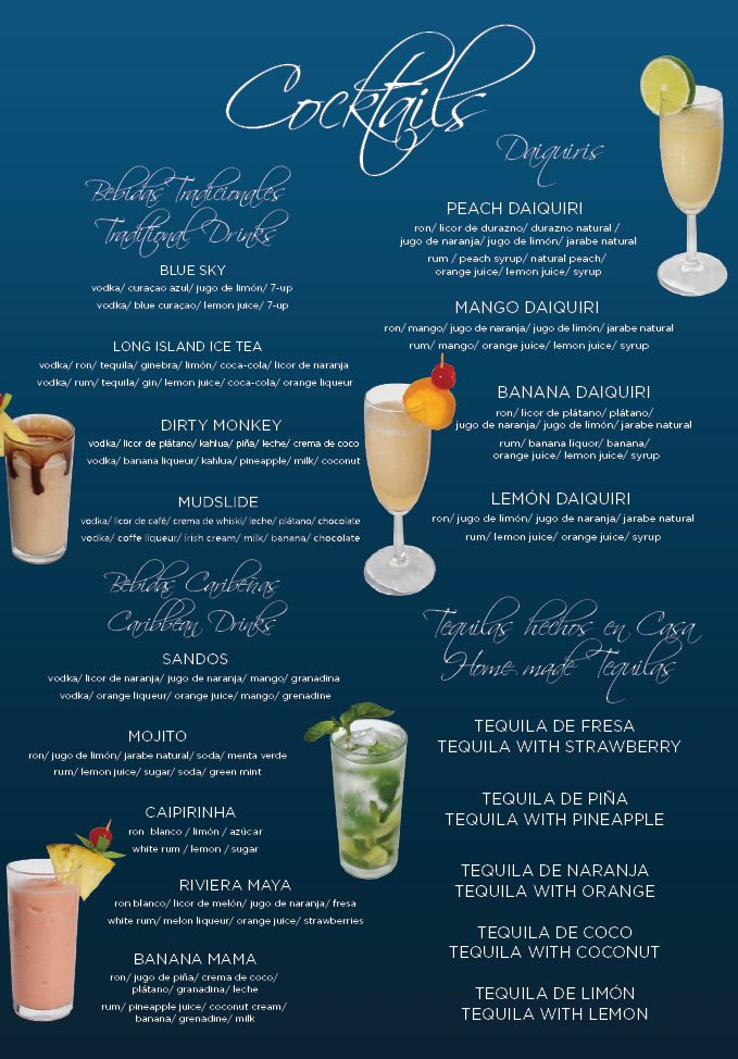 Here Is A List Of Mixed Drinks And Cocktails That Are