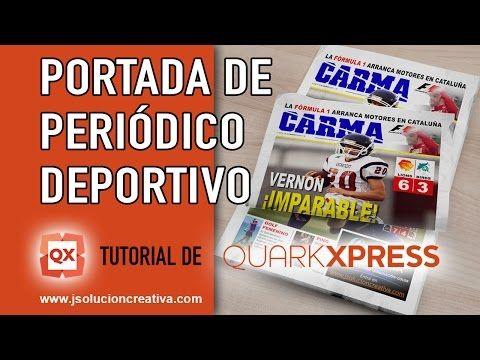Portada de periódico deportivo con QuarkXPress | J Solución Creativa