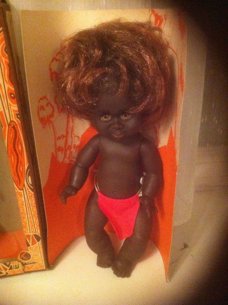 VINTAGE 1970S MATTI NETTA AUSTRALIA ABORIGINAL RUBBER BOXED BOY & MAN DOLL | eBay