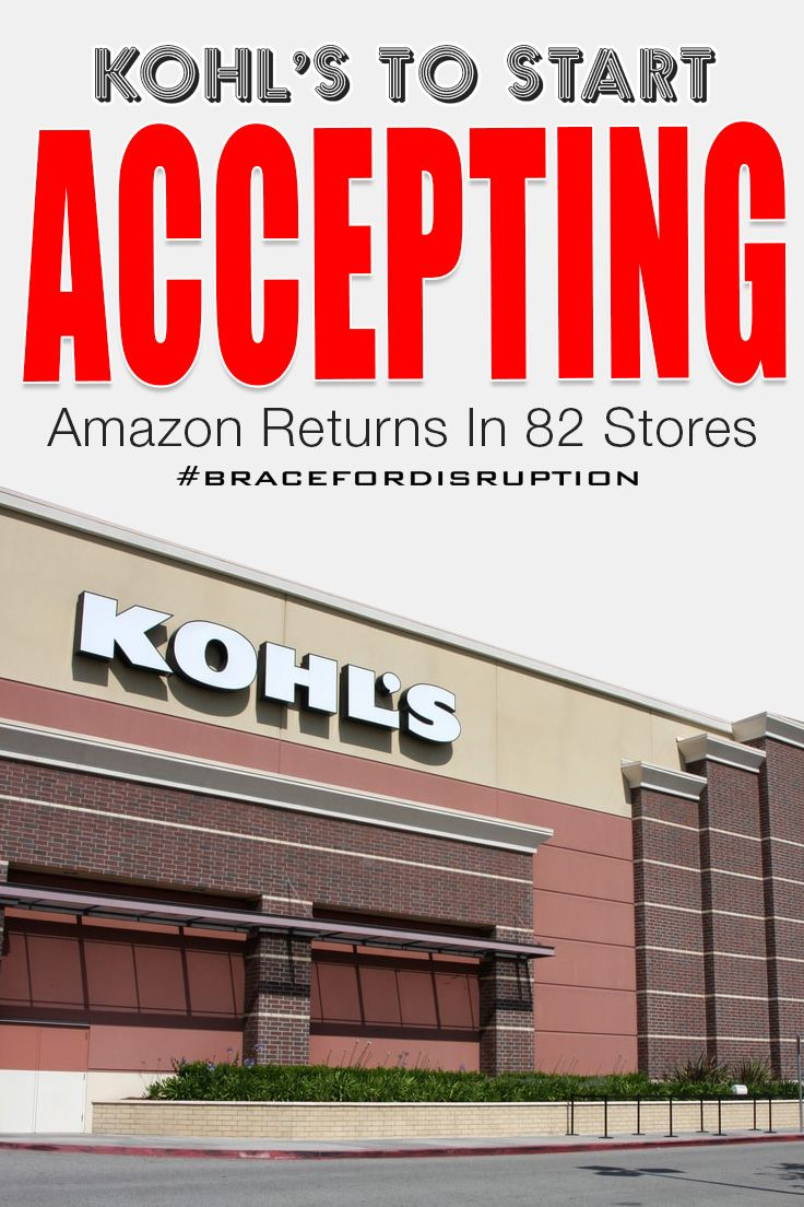 Amazon and Kohl's have announced that starting next month 82 Kohl's stores across Los Angeles and Chicago will pack and ship eligible items back to an Amazon fulfillment center — completely free of charge.