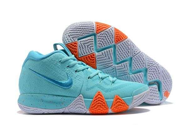 best website 92960 d3d01 2018 Mens Nike Kyrie 4 Power is Female Light Aqua Neo Turquoise Shoes-2