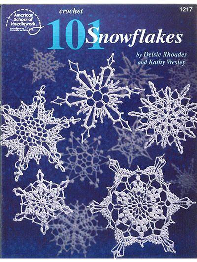 101 Snowflakes Christmas Crochet Book