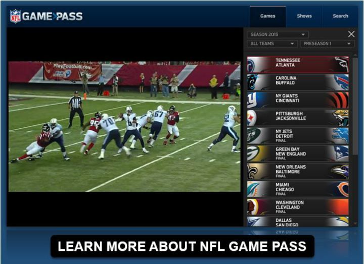 Watch NFL Live Streaming #sports #games http://game.remmont.com/watch-nfl-live-streaming-sports-games/  Watch NFL Live: Streaming Options for NFL Football Games For fans in the United States NFL Game Pass NFL.com Game Pass gives fans access to live and on-demand Preseason games and full replays of every NFL game on demand, in high definition, including regular season matchups, the NFL Playoffs and Super Bowls. Fans can watch…