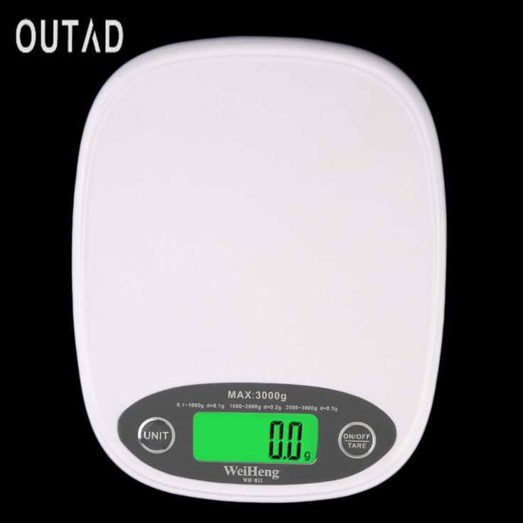 White Slim LCD Electronic Kitchen 3Kg/0.5 Digital Weight Scale Food Diet Hot Popular Kitchen scale Digital Weight Scale #Affiliate