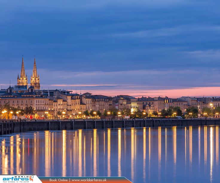 Bordeaux, France  |  Bordeaux is a port city on the Garonne River in the Gironde department in southwestern France. Bordeaux is the world's major wine industry capital.  |  Book Now: https://www.worldairfares.uk/?utm_source=pinterest&utm_medium=social&utm_campaign=bordeaux-france&utm_term=france  |  #France #Bordeaux #FlightstoFrance #WorldAirfares