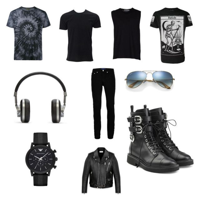 """""""15"""" by drile on Polyvore featuring Valentino, T By Alexander Wang, Yves Saint Laurent, Topman, Master & Dynamic, Emporio Armani, Ray-Ban and Giuseppe Zanotti"""