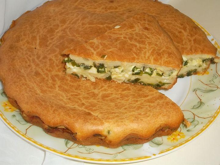 Заливной пирог с зеленым луком и яйцом - рецепт - как приготовить - ингредиенты, состав, время приготовления - Леди Mail.Ru