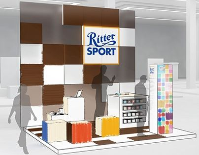 """Check out new work on my @Behance portfolio: """"RITTER SPORT exhibition stand"""" http://on.be.net/1Od3ydl"""
