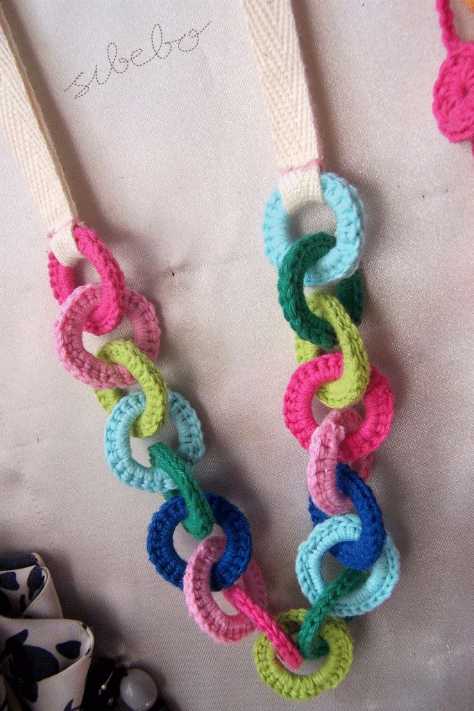 Really cute little crochet jewelry and other bits.  For sale, no pattern.  By Sibebo.