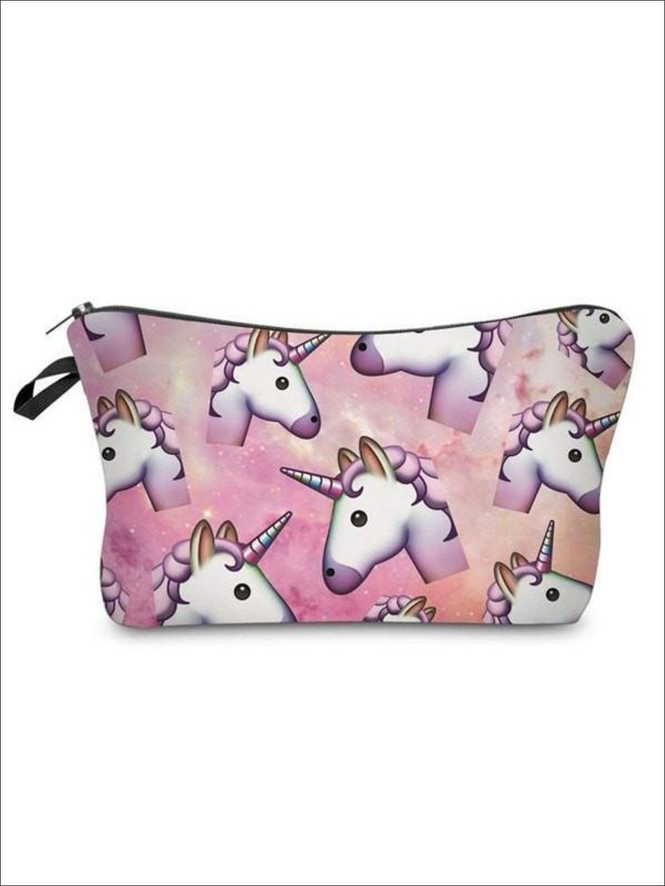 Girls Zipper Unicorn Printed Pencil Case