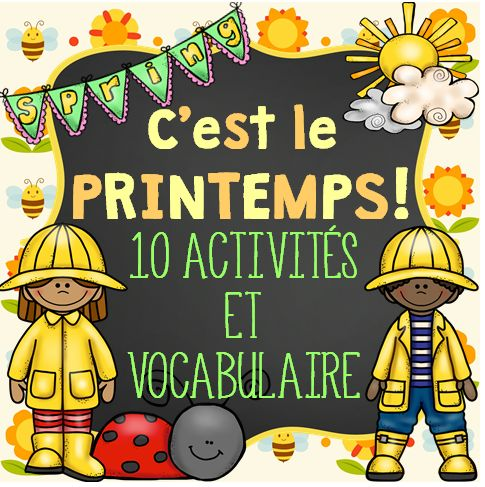 This French Spring package includes 10 activities and 44 vocabulary cards that you can use throughout Spring. If you enjoyed the Winter package, then you might be interested in this Spring themed one.