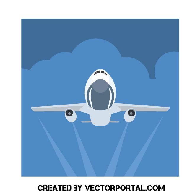 Airplane Takes Off Vector Clip Art Travel And Tourism Travel