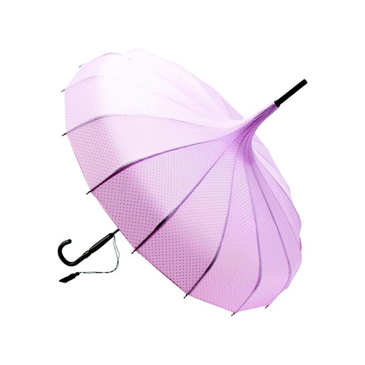 Lisbeth Dahl Rose Glitter Dot Pagoda Umbrella