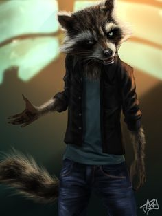 Rocket Raccoon Different Style by ArcRoto
