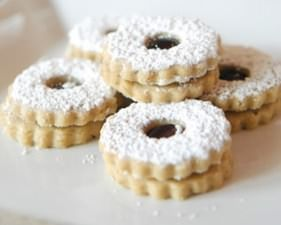 Ingredients: 1 C. Softened Butter 1/2 C. Sugar 1 tsp. Almond Extract 2 1/2 C. Flour 1/4 tsp. Salt 1/2 C. Raspberry or Blackberry Jam Sprinkle with Powdered Sugar Directions: Cream butter, sugar and extract: gradually add flour and salt to mixer on low speed. Divided dough in half; roll out one portion on a …