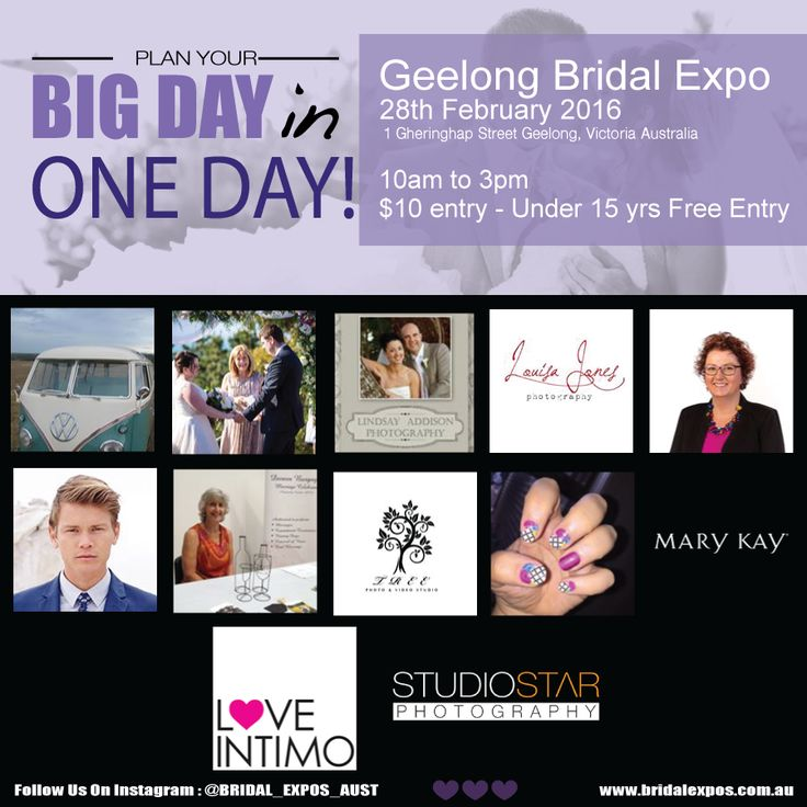 We simply can't wait for the #GeelongBridalExpo! This event is not to be missed and we look forward to welcoming you all to the Geelong Bridal Expo at Deakin Waterfront Campus this coming Sunday 28th of February! Come along and meet with some of Geelong's premier wedding suppliers all under one roof to help make your wedding day simply perfect. Here are some of our amazing exhibitors! heart emoticon #BeInspired