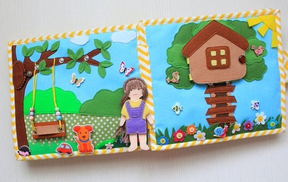 Quiet book Dollhouse Quiet doll house Girl personalized book Fairy ...