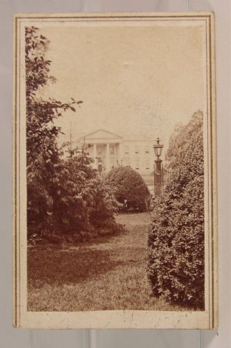 RARE 1860s Civil War Lincoln's White House CDV Photograph by Alexander Gardner | eBay