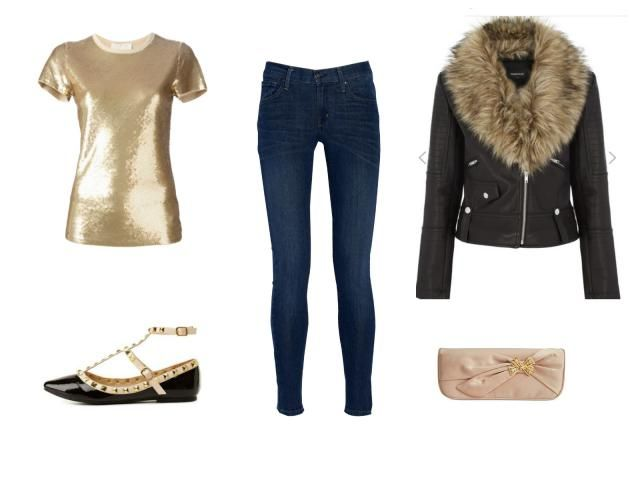 Holiday Style- Holiday House Party Outfit - Leather Jacket and Skinny Jeans