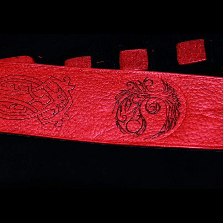 This strap is available at @acousticmusicshop where you can also get tickets to Sam Roberts and Serena Ryder at @beaumont_blues. Or you can get this beauty at my  #etsy shop:  http://etsy.me/2GFmfWO #accessories #belt #red #black #soft #leather #celtic #tree #knot