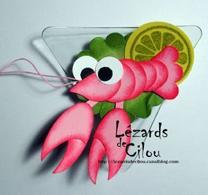 Lobster, crayfish, = So adorableCrivett Blog, Lobsters Punch, Cards Punch, Decil Ortiz, Paper Piece, Stampin Up, Punch Art, Punch Cards, Fantastic Stampin