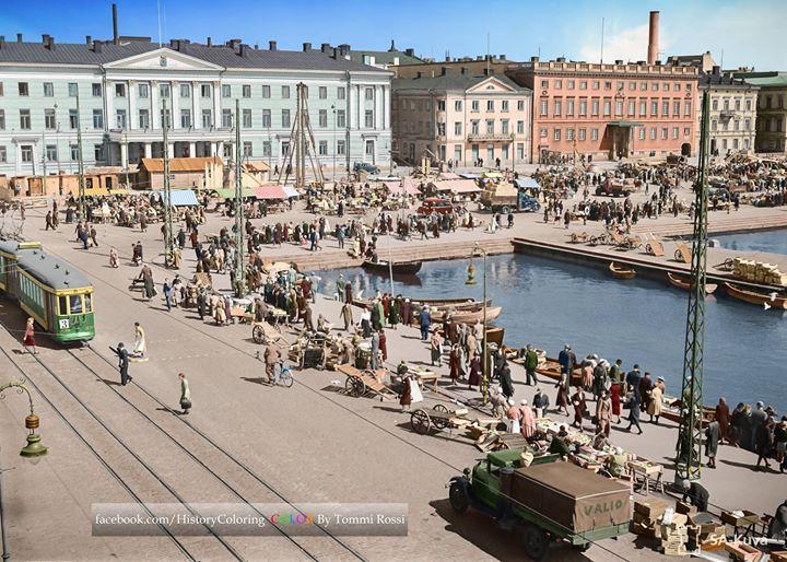 Helsinki värikuvina 1941