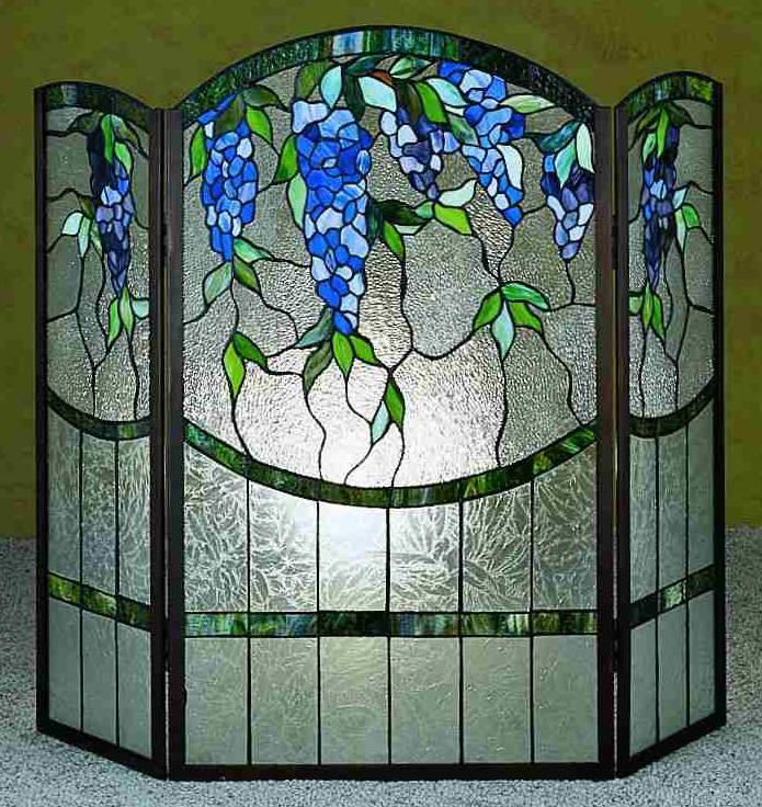 Stained Glass Fireplace Screen One with a flame motif would be good, too!