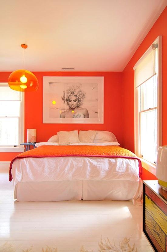 Orange room....  i had this color once, in az.: Wall Colors, Decor, Idea, Dreams, Bedrooms Design, Orange Rooms, House, Orange Walls, Orange Bedrooms