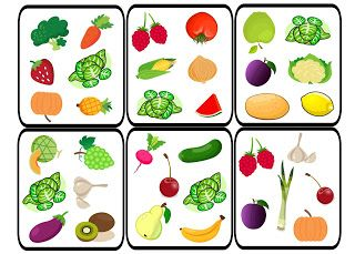 dobble, fruit, vegetables, game, spot it, vocabulary, owoce, warzywa, frutas, verduras, comida, Essen