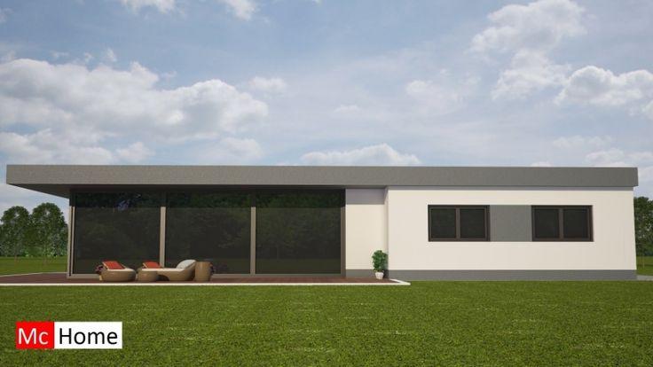 Moderne bungalow levensloopbestendige woning bouwen met veel glas energieneutraal in staalframebouw mc-home.nl B77