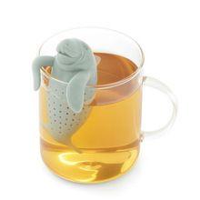 Hot New adorável Manatee forma Silicone coador de chá tempero filtro difusor infusor de chá ferramentas de alta qualidade(China (Mainland))