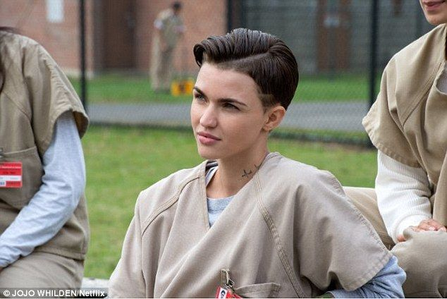 Prison suits her! Androgynous beauty Ruby Rose smoulders in the new Orange Is The New Blac...