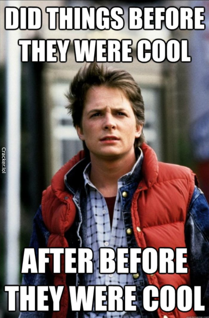 Did Things Before They Were Cool - Back To The Future #BackToTheFuture #BackToTheFutureDay #MartyMcFly #MichaelJFox #Delorian #Future #Nike