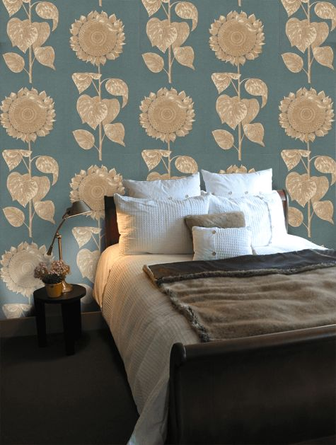 Sanderson Palladio Sunflower Wallpaper - DVIWPA103
