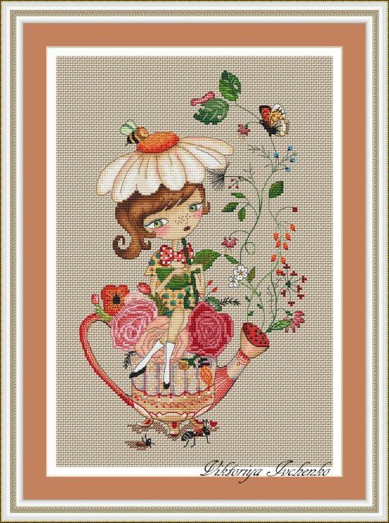 Gallery.ru / Цветочный чай - Платные схемы - IvchenkoV