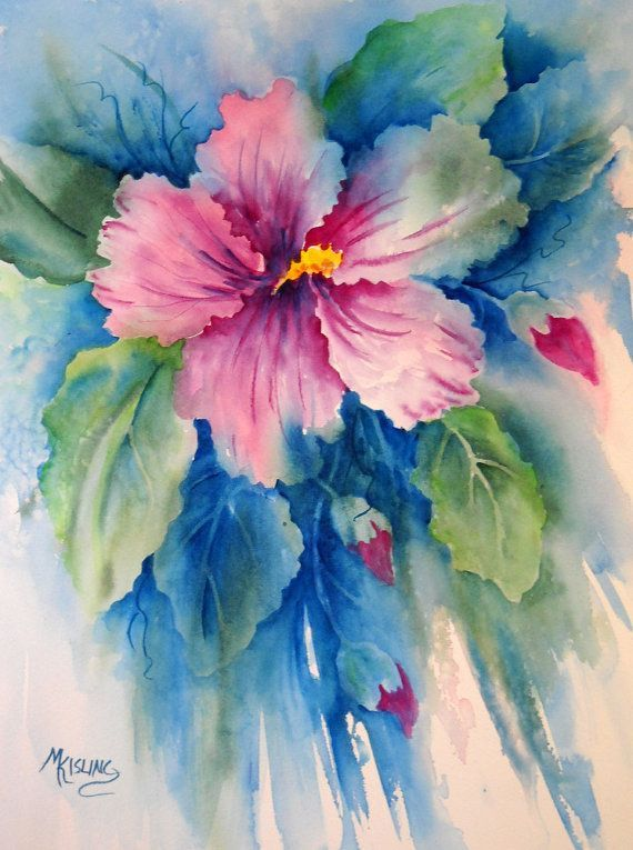 Hibiscus ~ Watercolor Art by MKisling