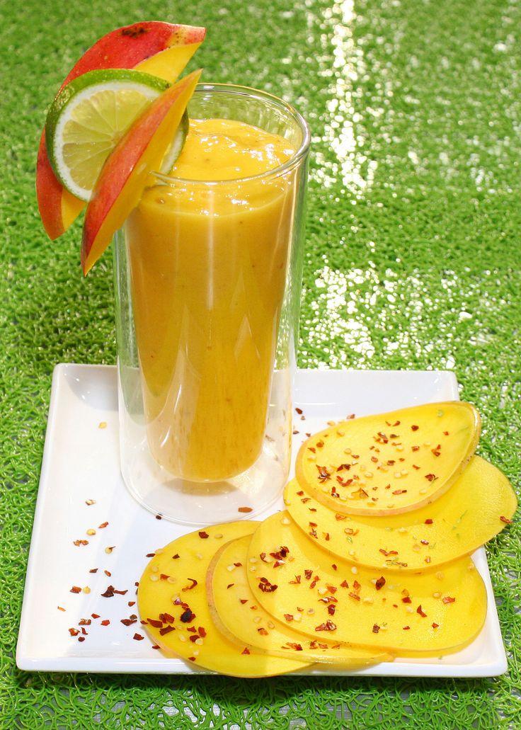Sorbete de mango picante. Un toque secreto para tus jugos o sorbetes: ají en escamas