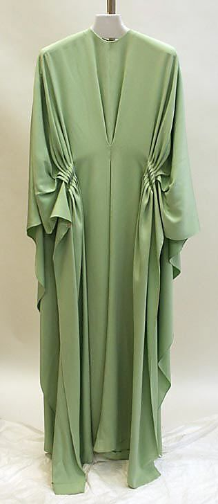 Caftan   Madame Grès (Alix Barton)  (French, Paris 1903–1993 Var region)  Date: 1965–87 Culture: French Medium: silk